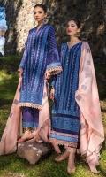 Front Chikankari: 1 Meter Printed Back: 1.3 Meters Printed Sleeves: 0.7 Meters Cotton Trousers: 2.5 Meters Khaadi Cotton Dupatta: 2.5 Meters Lace Trims: 0.75 Meters