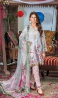Embroidered Lawn Unstitched 3 Piece