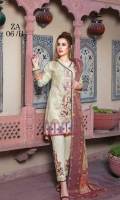 Shirt Base Digital Printed  Embroidered  Digital Print Missori Lawn Fancy Yarn  Dyed Cambric Trouser