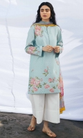 Embroidered Printed Front 0.65 Yard Printed Back & Sleeves 2 Yards Embroidered Front motif(1) Embroidered Back motif (1) Embroidered Sleeve Motifs(2) Extra Embroidered Motifs for Shirt (6) Printed Chiffon Dupatta 2.6 Yards Plain Cambric Trouser 2.15 yards