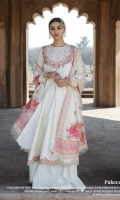 Embroidered Front With Neck Line on Self Woven Jacquard Shirt Embroidered Back and Sleeves on Self Jacquard Embroidered Border Patch Foral Jacquard Dupatta Plain Cambric Trouser