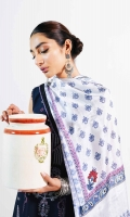 Embroidered Shirt Front 0.7 Yard Embroidered Back 1.4 Yards Embroidered Sleeves 0.7 Yards Embroidered Border Patch 1.65 Yards Printed Silk Dupatta 2.6 Yards