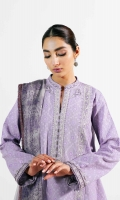 Lawn Jacquard Shirt 2.65 Yards Embroidered Neckline Embroidered Motifs 3 Pieces Embroidered Border Patch 3.25 Yards Embroidered Patti 4.3 Yards Printed Chiffon Dupatta 2.6 Yards Plain Cambric Trouser 2 Meters