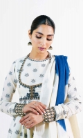 Lawn Jacquard Shirt 5 Meters Embroidered Neckline Embroidered Motifs 2 Pieces Embroidered Sleeve Border Patch 1 Yard Embroidered Ghera Patti 5.5 Yards Embroidered Back Neck Patti 0.7 Yard Hand Tie & Dyed Lawn Jacquard Dupatta 2.6 Yards Plain Cambric Trouser 2 Meters