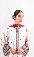 Embroidered Shirt 2.8 Yards Embroidered Border 1.65 Yards Embroidered Border 1 Yard Embroidered Neck Patti 1.65 Yards Embroidered Tareez Patti 5 Yards Embroidered Motifs 2 Pieces Embroidered Patti for Trouser 1 Yard Printed Silk Dupatta 2.6 Yards Plain Cambric Trouser 2 Meters