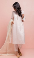 Blush pink embroidered chikankari Bhopali lawn kurta with an embellished placket. The side gathers at the waistline enhances the silhouette of the kurta. The hemline is detailed with our traditional ghungro, keeping the ritual alive.