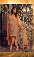 03 pcs unstitched embroidered Chiffon with embroidered dupatta