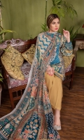 Digital and Embroidered Lawn Front  Digital Printed Back Lawn  Digital printed Sleeves Lawn  Digital printed Chiffon Dupatta  Dyed Cotton Trousers