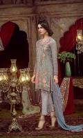 Embroidered Chiffon Front  Embroidered Chiffon Back  Embroidered Chiffon Sleeve Embroidered Chiffon Dupatta Pk Raw Silk Dyed Trouser