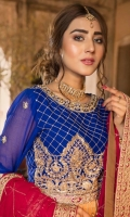 Blouse Front & Back : Embroidered Chiffon (0.66 M) Lehenga Front : Embroidered Chiffon (1.29 M) Lehenga Back: Embroidered Chiffon (1.29 M) Sleeves: Embroidered Chiffon (0.66 M) Dupatta:...