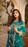 Front : Embroidered Chiffon Hand Embellished (0.8 M) Back: Embroidered Chiffon (0.8 M) Sleeves: Embroidered & Hand Embellished Chiffon (0.66 M) Dupatta: Embroidered Chiffon (2.5 M) Trouser: Raw...