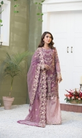 EMBROIDERED WEIGHTLESS CHIFFON FRONT.  1 YDS  EMBROIDERED WEIGHTLESS CHIFFON BACK.      1 YDS  EMBROIDERED WEIGHTLESS CHIFFON SLEEVES.    0.67 YDS  EMBROIDERED SLEEVES LACE.    1 YDS  EMBROIDERED WEIGHTLESS CHIFFON DUPATTA.    2.50 YDS  EMBROIDERED GRIP SILK TROUSER.      2.50 YDS