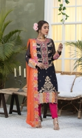 EMBROIDERED WEIGHTLESS CHIFFON FRONT WITH H.M WORK.      1 YDS  EMBROIDERED WEIGHTLESS CHIFFON BACK.    1 YDS  EMBROIDERED WEIGHTLESS CHIFFON SLEEVES.    0.67 YDS  EMBROIDERED GHERA LACE.    2 YDS  EMBROIDERED SLEEVES LACE.    1 YDS  EMBROIDERED WEIGHTLESS CHIFFON DUPATTA.    2.50 YDS  GRIP SILK TROUSER.      2.50 YDS  EMBROIDERED MOTIF FOR TROUSER.      2 PCS