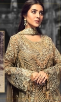 EMBROIDERED CHIFFON FRONT WITH HANDMADE WORK 1 YD EMBROIDERED GALA WITH HANDMADE WORK 1 PC EMBROIDERED CHIFFON BACK 1 YD EMBROIDERED CHIFFON SLEEVES WITH HANDMADE WORK 2 PCS EMBROIDERED GHERA LACE 2 YDS EMBROIDERED SLEEVES LACE 1 YD EMBROIDERED CHIFFON DUPATTA 2.5 YDS ZR-03 EMBROIDERED GRIP SILK TROUSER 2.5 YDS