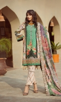 lawn print embroidered center  panel lawn printed front side panel lawn printed   back lawn printed sleeves lawn printed boder for front Chiffon Printed emboridered Duppata Plain trouser