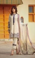 lawn embroidered front lawn printed back lawn printed sleeves embroidered boder for front Chiffon Printed emboridered Duppata Plain trouser