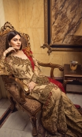 EMBROIDERED CHIFFON FRONT WITH HANDMADE WORK EMBROIDERED CHIFFON BACK EMBROIDERED CHIFFON SLEEVES WITH HANDMADE WORK EMBROIDERED GHERA LACE EMBROIDERED SLEEVE MOTIF EMBROIDERED CHIFFON DUPATTA EMBROIDERED GRIP SILK TROUSER
