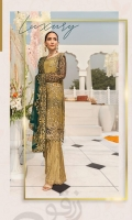 Embroidered Chiffon Front With Handmade Work  Embroidered Chiffon Back  Embroidered Chiffon Sleeves With Cut Work  Embroidered Ghera Lace  Embroidered Sleeves Lace  Embroidered Chiffon Dupatta  Embroidered Grip Silk Trouser