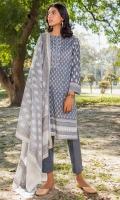 Printed Lawn Shirt, Dyed Cambric Bottom, Printed Lawn Dupatta