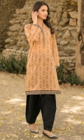 Printed Lawn Shirt, Beads & Lace for Embellishment