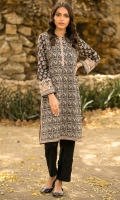Printed Lawn Shirt, Lace for Embellishment