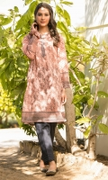 Digital Printed Lawn Shirt with Embroidered Neckline, Beads & Dori for Embellishment