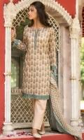 Digital Printed Lawn Shirt, Dyed Cambric Bottom, Digital Printed Lawn Dupatta