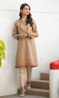 Digital Printed Doria Lawn Shirt with Embroidered Neckline