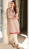 Digital Printed Cotton Satin Shirt, Beads, Button & Dori for Embellishment