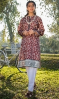 Printed Lawn Shirt, Beads, Buttons & Lace for Embellishment