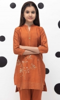 Embroidered Top Stylized With Zari Embrodiery Detailing On The Neckline Sleeves And Hemline, Embellished Bottom, Fabric: Yarn Dyed Jacquard