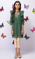 A-line Embroidered Top With Ruffled Armholes And Contrasting Embellishment, Fabric: Doria