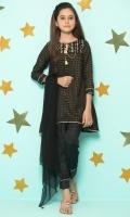 Checkered Zari Khaadi Net Embroidered Top  Raw Silk Straight Bottom  Embellished Net Dupatta
