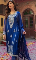 Embroidered Chiffon Suits Unstitched 3 Piece