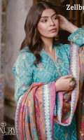 3 Piece Embroidered Organza Jacquard Suit