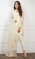 Embroidered Organza Stitched 3 Piece Suit